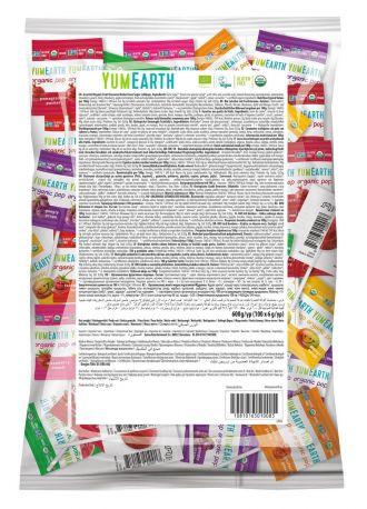Леденцы на палочке органические YumEarth Ассорти, упаковка 6 гx100 шт - Фото 1