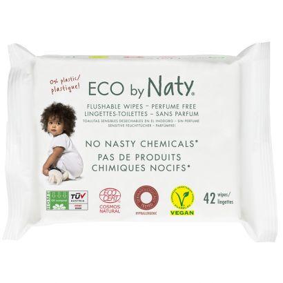 Органические влажные салфетки Naty смывающиеся, с легким ароматом, 42 шт