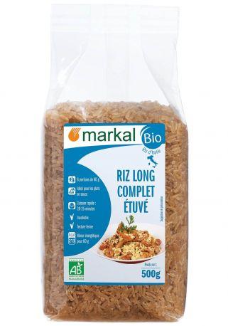 Рис пропаренный Markal длиннозернистый неочищенный органический 500 г
