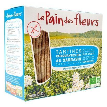 Хлебцы из гречки Le Pain des Fleurs без соли и сахара, без глютена органические 150 г