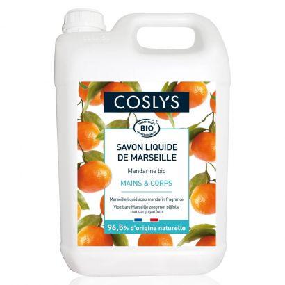 Марсельское мыло для рук Coslys Marseille жидкое с ароматом мандарина 5 л