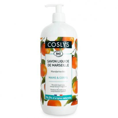Марсельское мыло для рук Coslys Marseille жидкое с ароматом мандарина 1 л