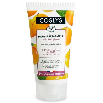 Восстанавливающая маска Coslys для защиты и питания сухих и поврежденных волос с маслом мирабеллы, 150 мл