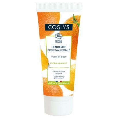 Зубная паста Coslys гелевая с ароматом апельсина без мяты и ментола 75 мл
