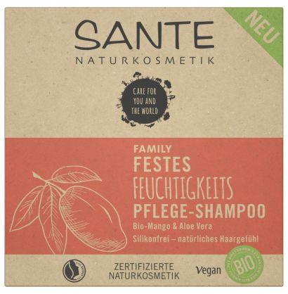Био-шампунь твердый для питания и увлажнения волос с Манго и Алоэ Sante (для всей семьи), 60 г - Фото 2