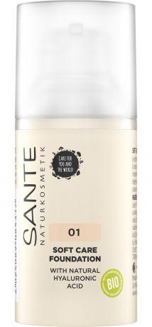 Био-Основа под макияж Soft Care с гиалуроновой кислотой №1 Warm Linen Sante, 30мл - Фото 1