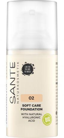 Био-Основа под макияж Soft Care с гиалуроновой кислотой №2 Neutral Beige Sante, 30мл - Фото 1