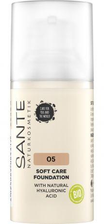Био-Основа под макияж Soft Care с гиалуроновой кислотой №5 Cool Beige Sante, 30мл - Фото 1