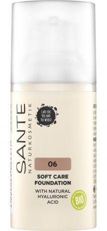 Био-Основа под макияж Soft Care с гиалуроновой кислотой №6  Neutral Amber Sante, 30мл - Фото 1
