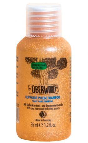 Шампунь Uberwood для ухода за кожей головы органический 35 мл