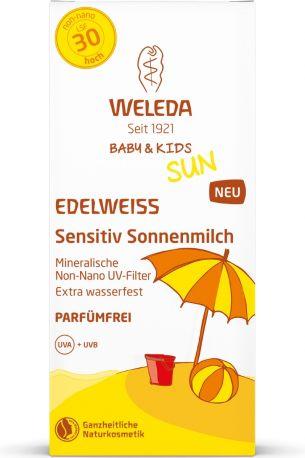Солнцезащитное молочко для детей Weleda Edelweiss Sunscreen Lotion SPF 30 Sensitive, 150 мл - Фото 2