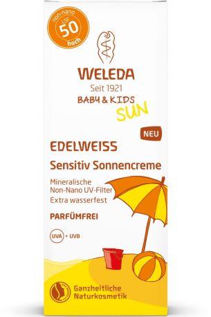 Солнцезащитный крем для детей Edelweiss Sunscreen Lotion SPF 50 Sensitivе, Weleda, 50 мл - Фото 2