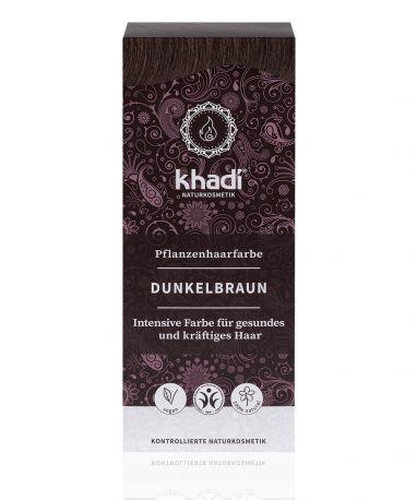 Растительная краска для волос Khadi Темно-коричневый (Dark Brown), 100 г - Фото 2