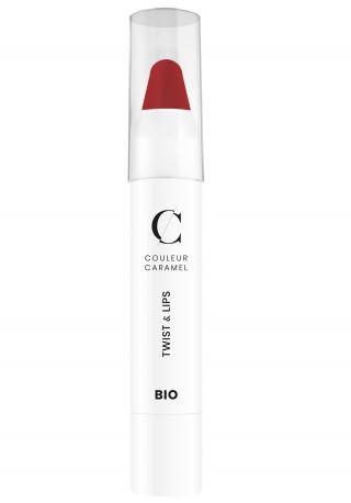 Помада карандаш Couleur Caramel Twist & lips № 405 Ягодно-красный 3 г - Фото 1