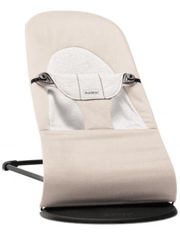 Кресло-шезлонг Baby Bjorn Balance Soft Джерси Бежево-серый хлопковый - Фото 1