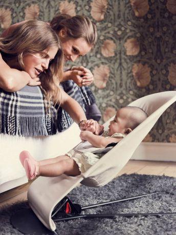 Кресло-шезлонг Baby Bjorn Balance Soft Джерси Бежево-серый хлопковый - Фото 2