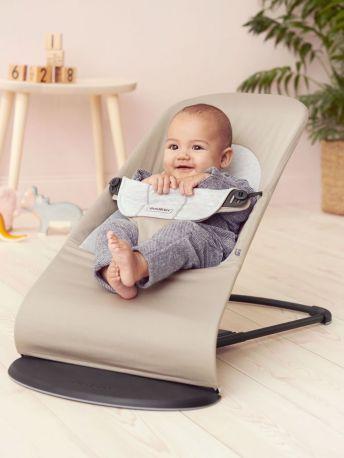 Кресло-шезлонг Baby Bjorn Balance Soft Джерси Бежево-серый хлопковый - Фото 3
