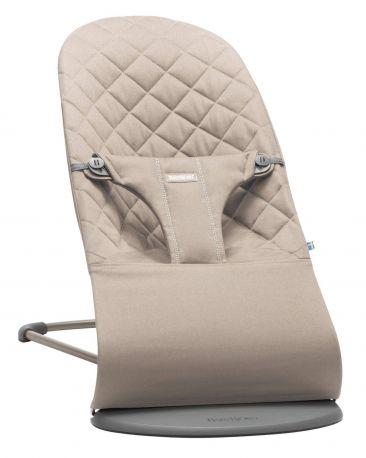 Кресло-шезлонг BabyBjorn Balance Sand Grey Mesh Песочно-серый - Фото 1