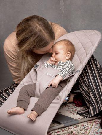 Кресло-шезлонг BabyBjorn Balance Sand Grey Mesh Песочно-серый - Фото 3