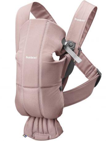 Рюкзак-переноска BabyBjorn Carrier Mini Pastel Cotton пастельно-розовый