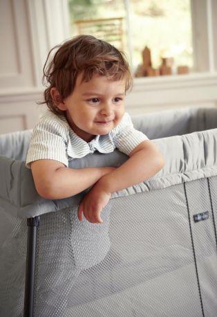 Складной манеж-кровать BabyBjorn Travel Crib Light Серебристый - Фото 4