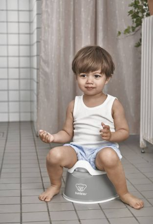 Горшок Смарт Baby Bjorn Smart Potty Серый/Белый - Фото 3