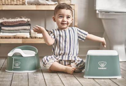 Горшок Смарт BabyBjorn Smart Potty Темно-зеленый/Белый - Фото 2