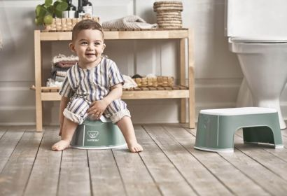 Горшок Смарт BabyBjorn Smart Potty Темно-зеленый/Белый - Фото 3