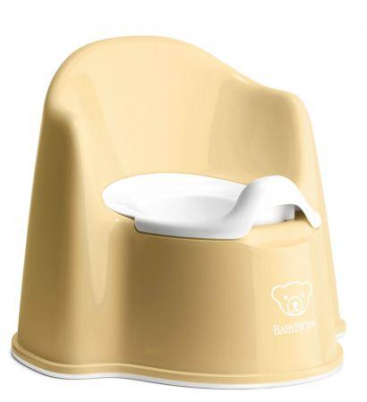 Горшок-кресло BabyBjorn Potty Chair Бледно-желтый/Белый - Фото 1
