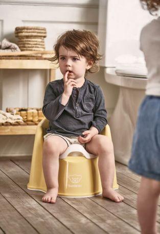 Горшок-кресло BabyBjorn Potty Chair Бледно-желтый/Белый - Фото 2