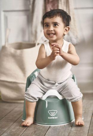 Горшок-кресло BabyBjorn Potty Chair Темно-зеленый/Белый - Фото 2
