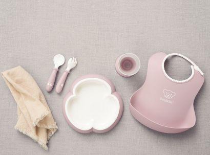 Набор детской посуды для кормления BabyBjorn Baby Dinner Set Powder Pink - Фото 2