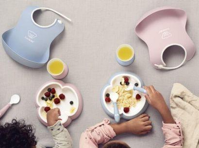 Набор детской посуды для кормления BabyBjorn Baby Dinner Set Powder Pink - Фото 4