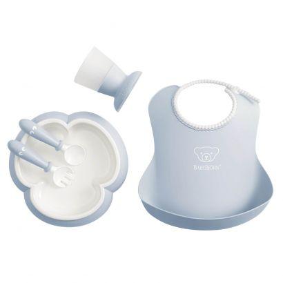 Набор детской посуды для кормления BabyBjorn Baby Dinner Set Powder Голубой - Фото 1