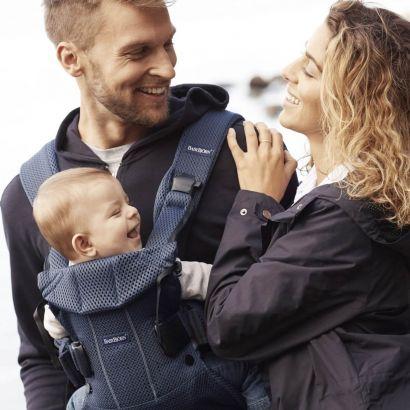 Рюкзак-переноска Baby Bjorn Baby Carrier One Air Navy blue Mesh - Фото 3