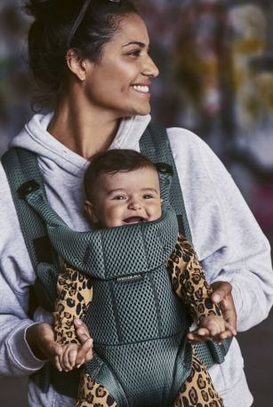 Рюкзак-переноска Baby Bjorn Carrier Move Sage Green Серо-зеленый - Фото 3