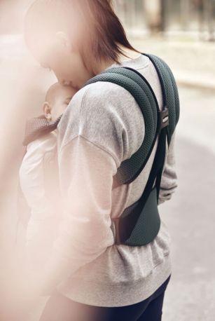 Рюкзак-переноска Baby Bjorn Carrier Move Sage Green Серо-зеленый - Фото 6