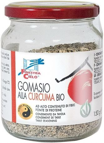 Приправа гомасио La Finestra Sul Cielo с куркумой органическая 150 г