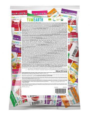 Леденцы органические YumEarth Ассорти из 8 вкусов, упаковка 6 гx1 шт