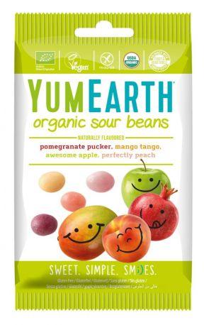Конфеты жевательные YumEarth кислые, фруктовые органические 50 г - Фото 1