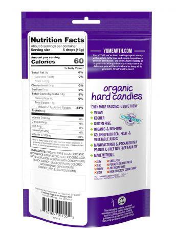 Леденцы YumEarth Антиоксидантные фрукты с витамином С органические 93.6 г - Фото 2