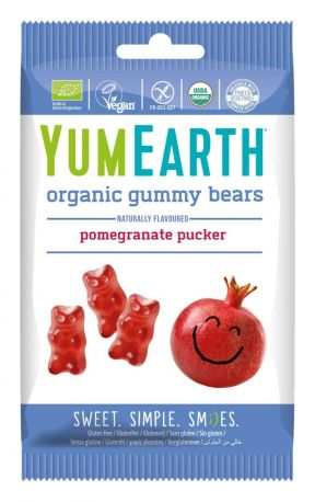 Жевательные конфеты Мишки YumEarth Гранат органические 50 г - Фото 1
