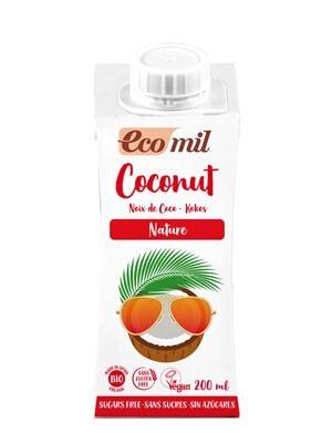 Растительное молоко из кокоса Ecomil без сахара органическое 200 мл