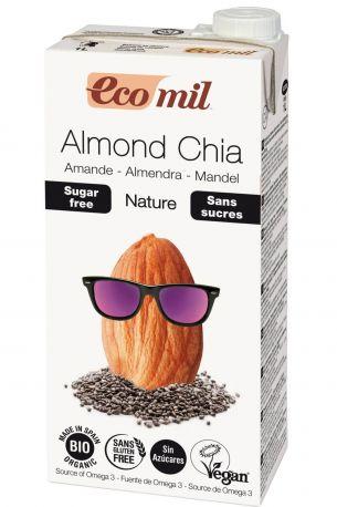Растительное миндальное молоко Ecomil с семенами Чиа без сахара органическое 1 л