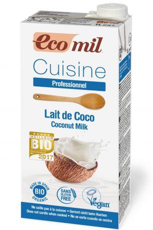 Растительные сливки из кокоса Ecomil органические 1 л