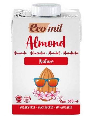 Растительное миндальное молоко Ecomil без сахара органическое 500 мл