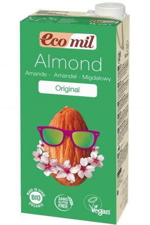 Растительное миндальное молоко Ecomil с сиропом агавы органическое 1 л