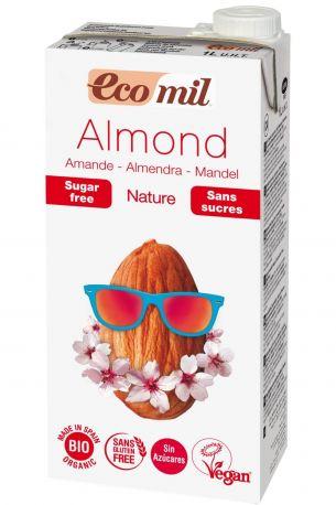 Растительное миндальное молоко Ecomil без сахара органическое 1 л
