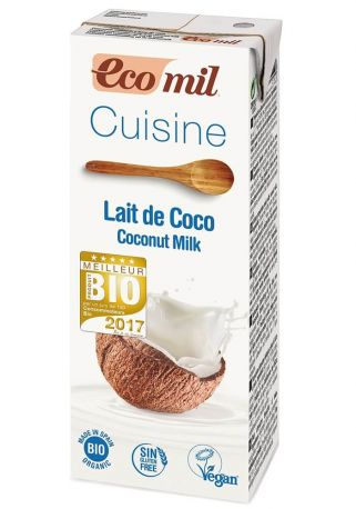 Растительные сливки из кокоса Ecomil, 200 мл