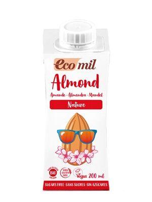 Растительное миндальное молоко Ecomil без сахара органическое 200 мл